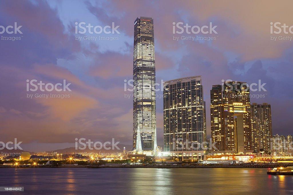 Skyscraper District in Hong Kong stock photo