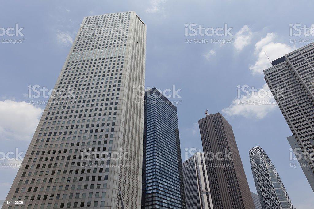 Skyscraper District in Tokyo, Japan stock photo