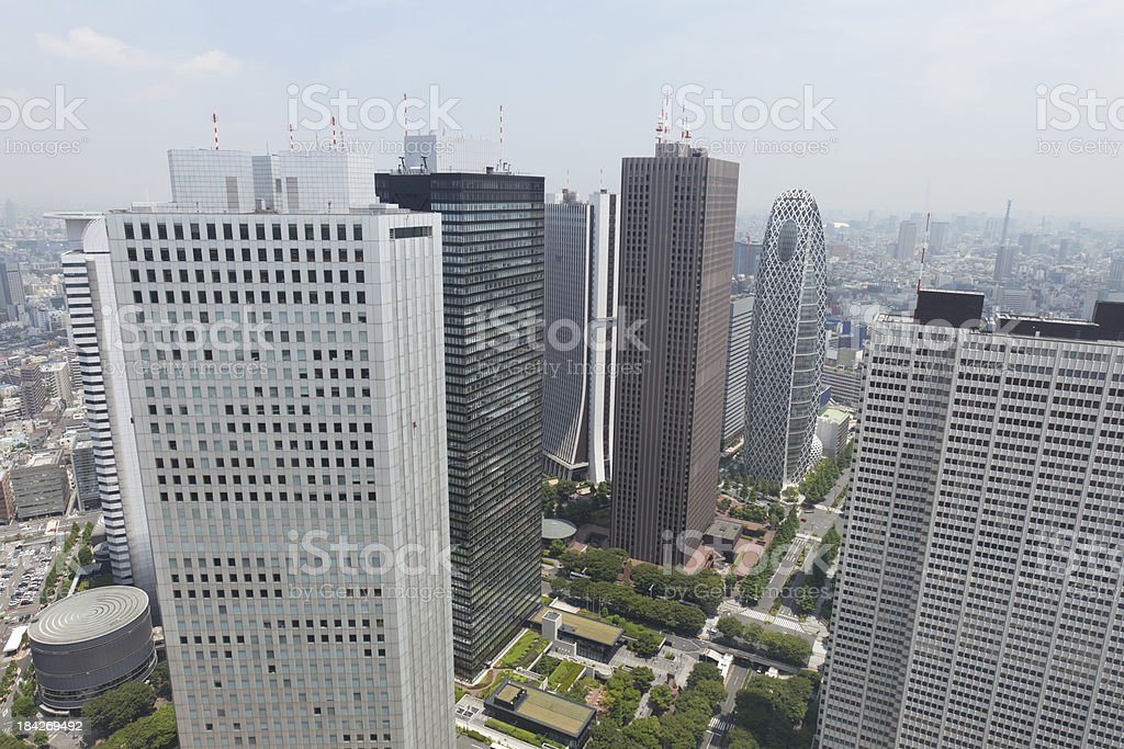Skyscraper District in Tokyo, Japan royalty-free stock photo