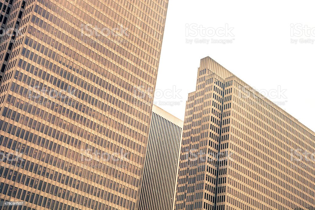 Skyscraper downtown district royalty-free stock photo