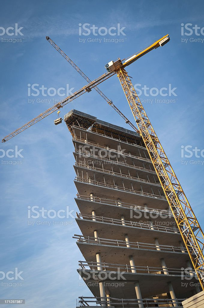 skyscraper during construction royalty-free stock photo