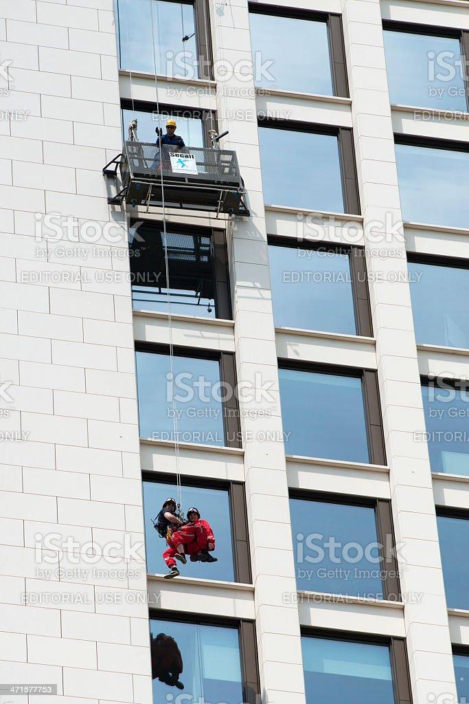 Skyscraper festival Height Rescue Team Frankfurt Germany stock photo