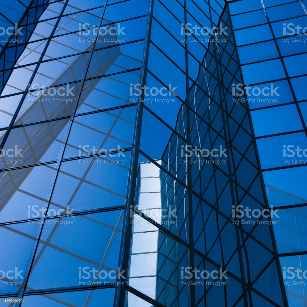 Skyscraper glass and reflections royalty-free stock photo