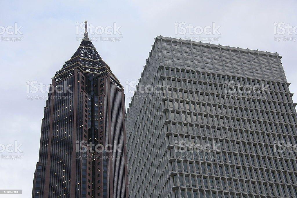 Skyscraper in downtown Atlanta stock photo