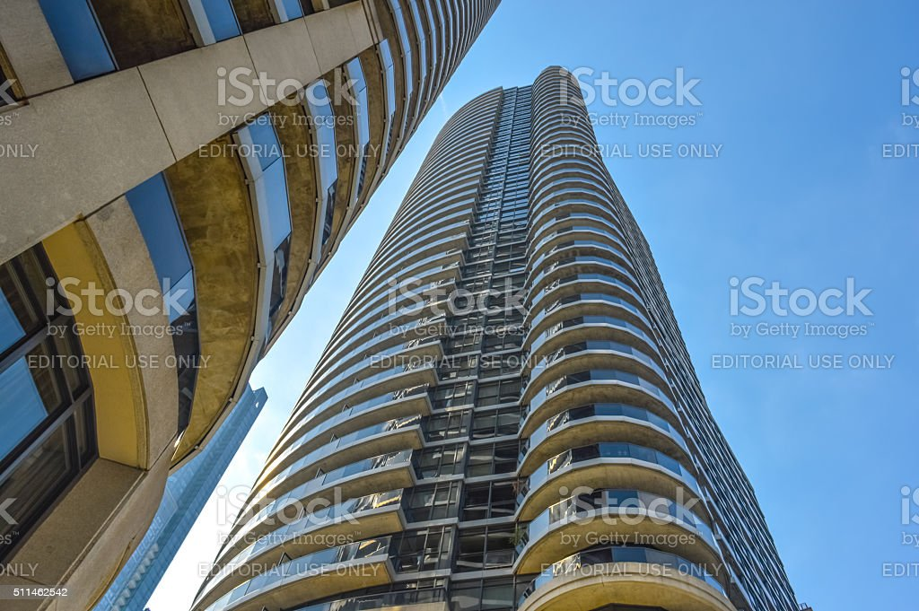Skyscraper in downtown Toronto stock photo