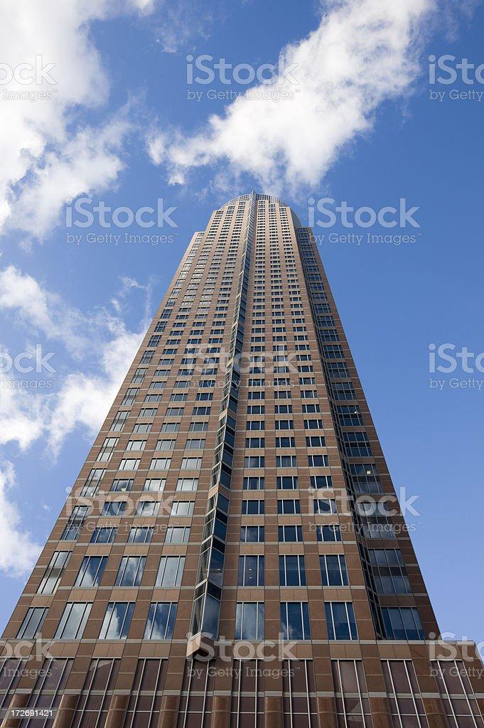 skyscraper in Frankfurt royalty-free stock photo