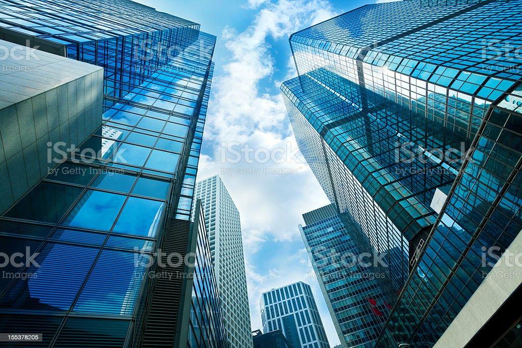 Skyscraper in Hong kong royalty-free stock photo