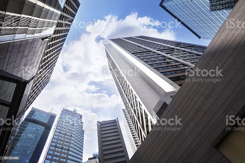 Skyscraper in Hong kong royalty-free stock photo