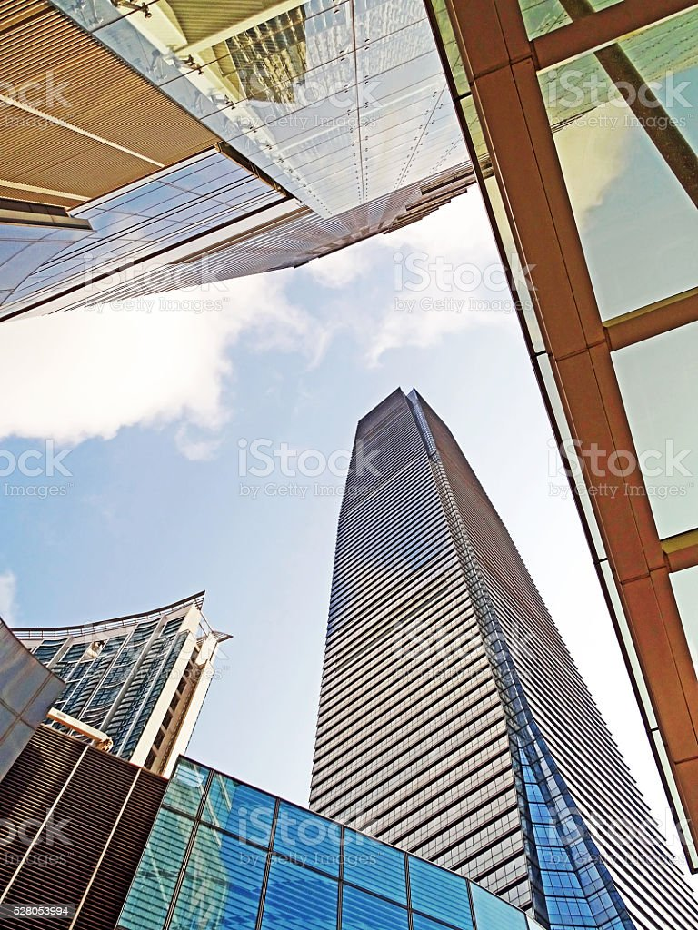 Skyscraper in Hong Kong stock photo