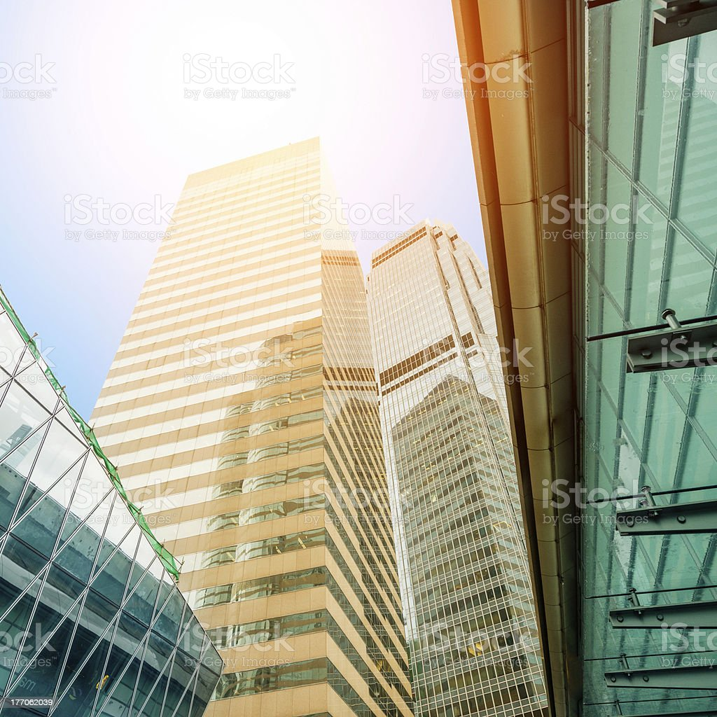 Skyscraper in Honkong royalty-free stock photo