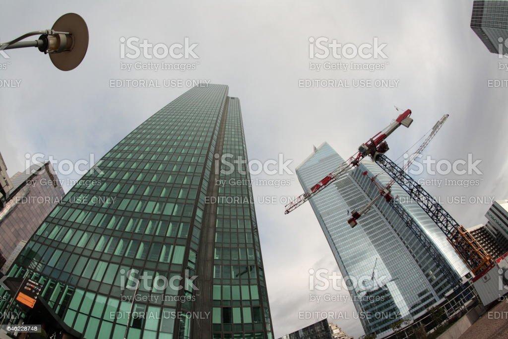 Skyscraper in La Defense, Paris stock photo