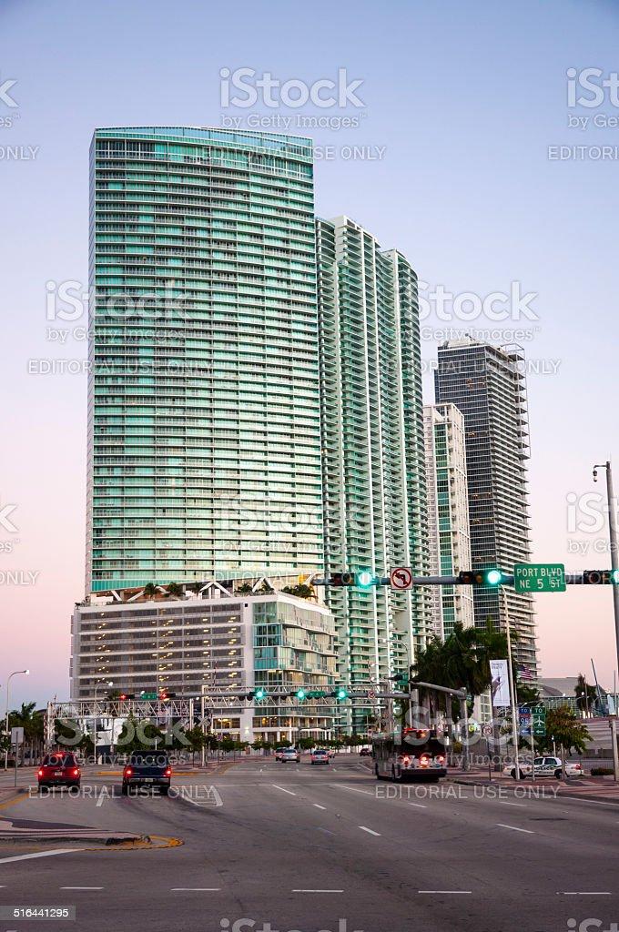 Skyscraper in Miami stock photo