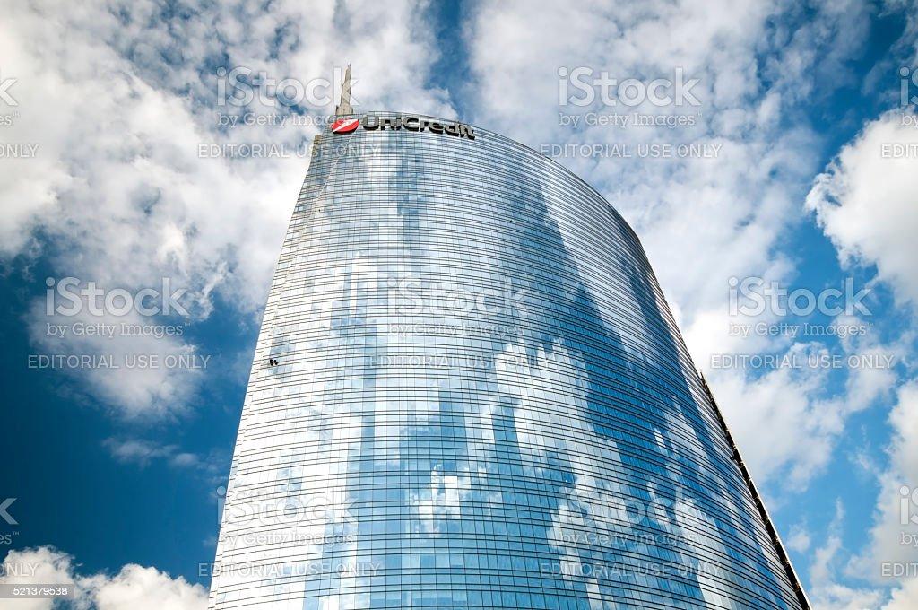 Skyscraper in Milan stock photo
