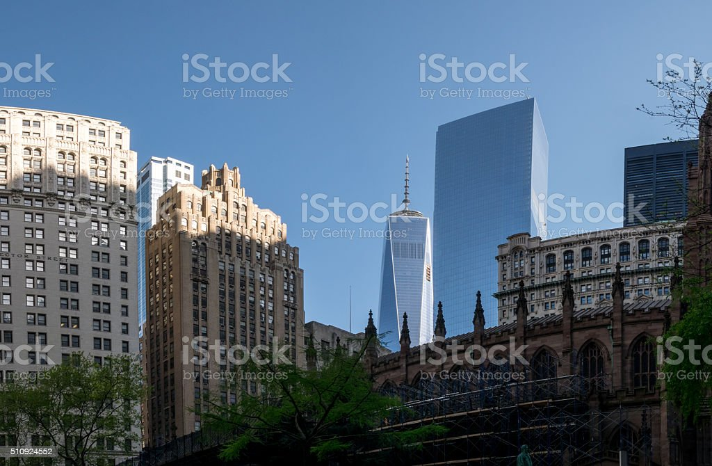 Skyscraper in New York royalty-free stock photo