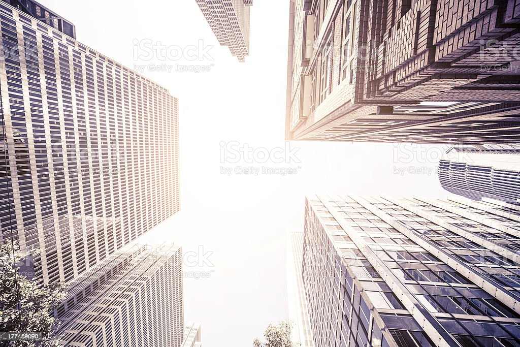 Skyscraper in San Francisco downtown district royalty-free stock photo