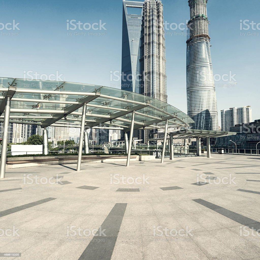 skyscraper in shanghai stock photo