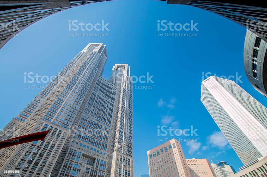skyscraper modern business buildings centre, Tokyo stock photo