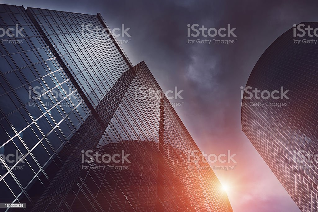 Skyscraper Moscow City royalty-free stock photo