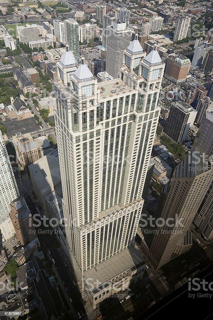 Skyscraper, North Michigan Avenue, Chicago royalty-free stock photo