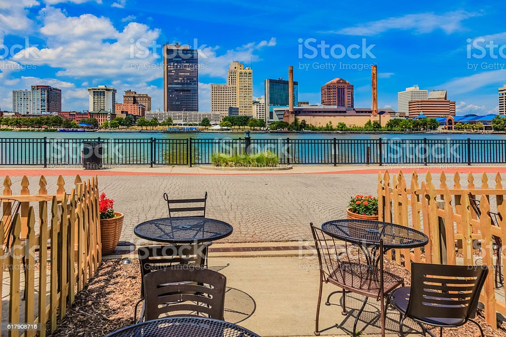 Skyscraper of downtown Toledo skyline, Ohio stock photo