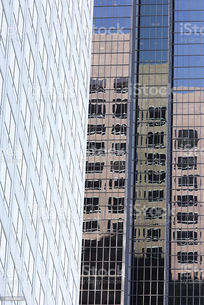 Skyscraper Office Building Window Reflection royalty-free stock photo