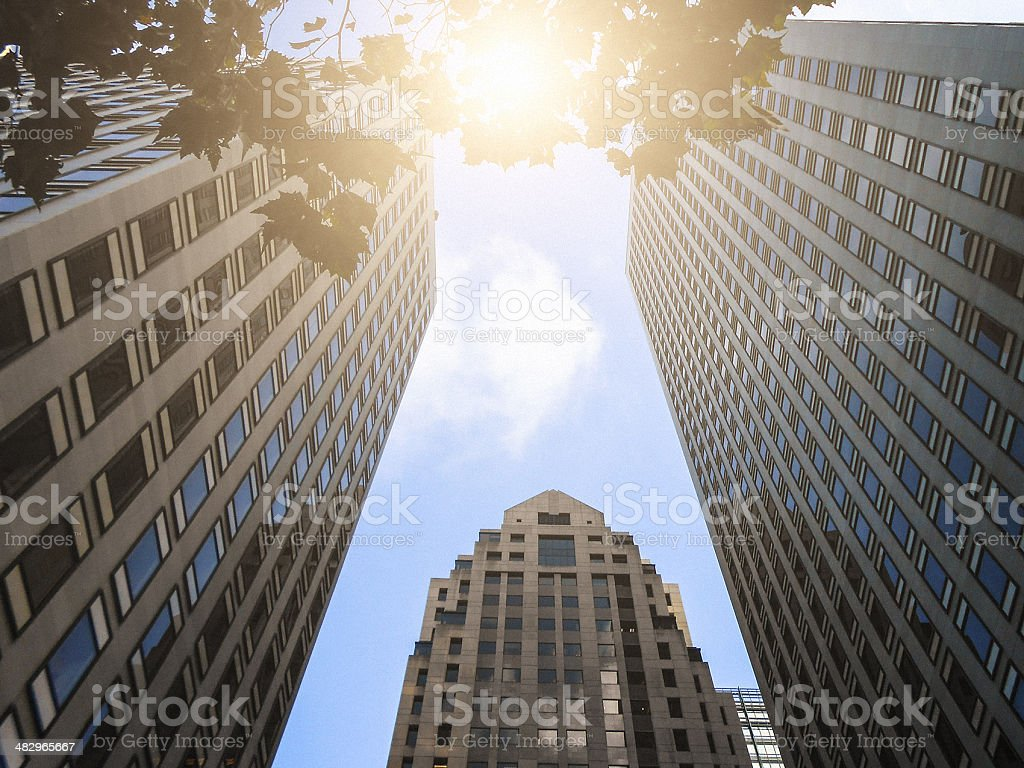 Skyscraper on market street - san francisco royalty-free stock photo