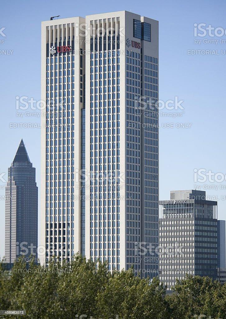 Skyscraper Opernturm UBS Bank, Frankfurt. stock photo