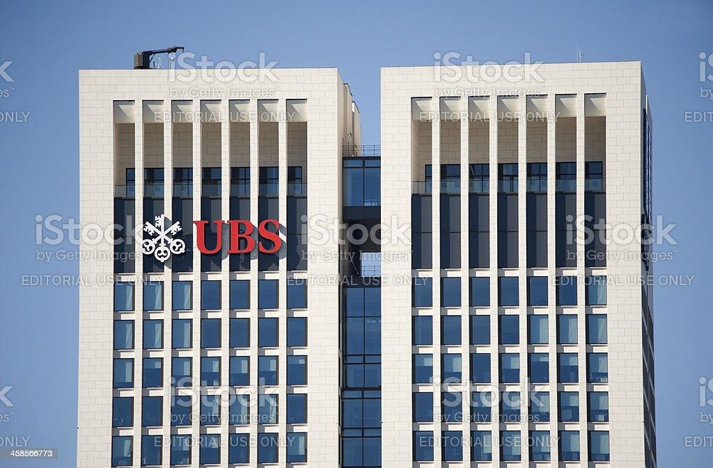 Skyscraper Opernturm, UBS, Frankfurt. stock photo