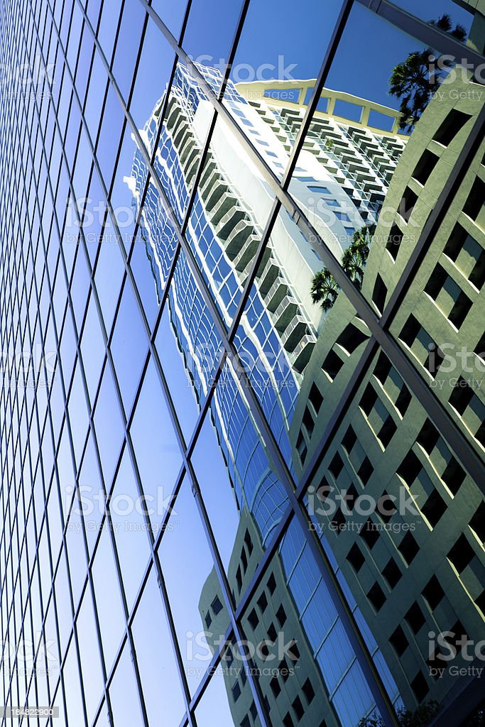 Skyscraper reflection royalty-free stock photo
