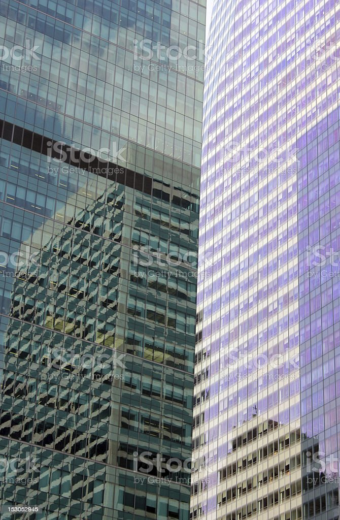 Skyscraper reflections, New York City royalty-free stock photo