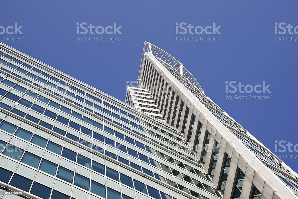 Skyscraper segment in Rotterdam royalty-free stock photo