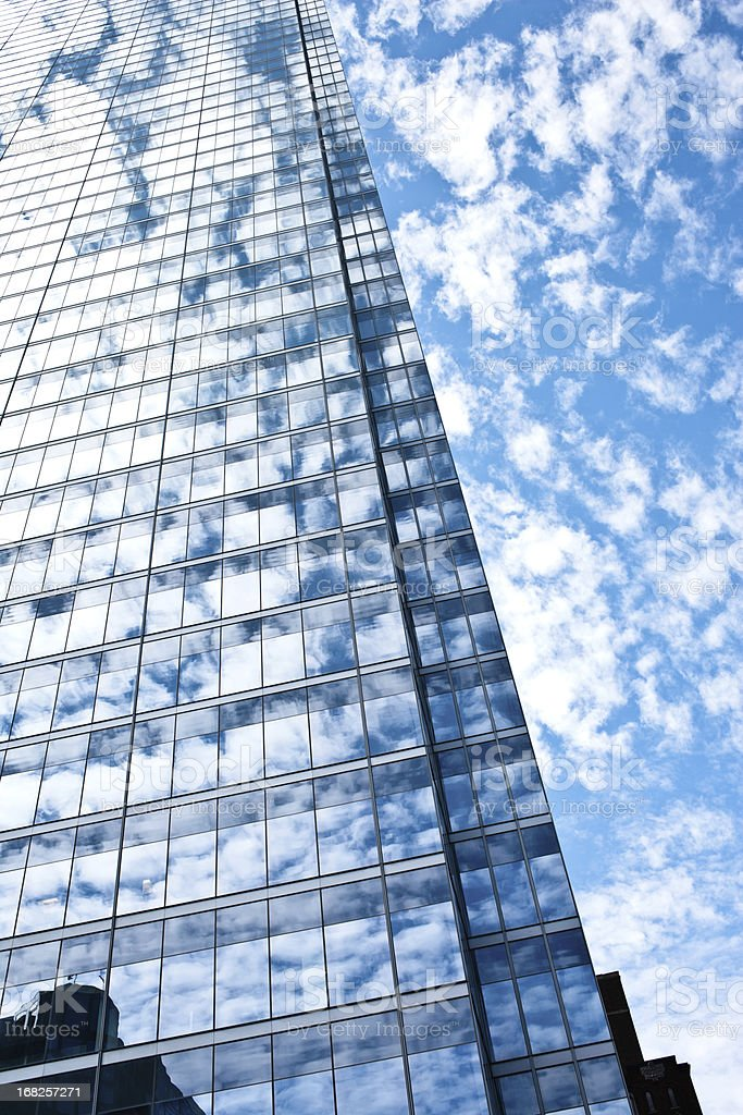 Skyscraper that rises to the sky royalty-free stock photo
