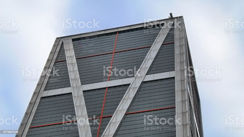 Skyscraper top stock photo