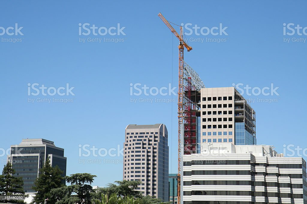Skyscraper Under Construction royalty-free stock photo