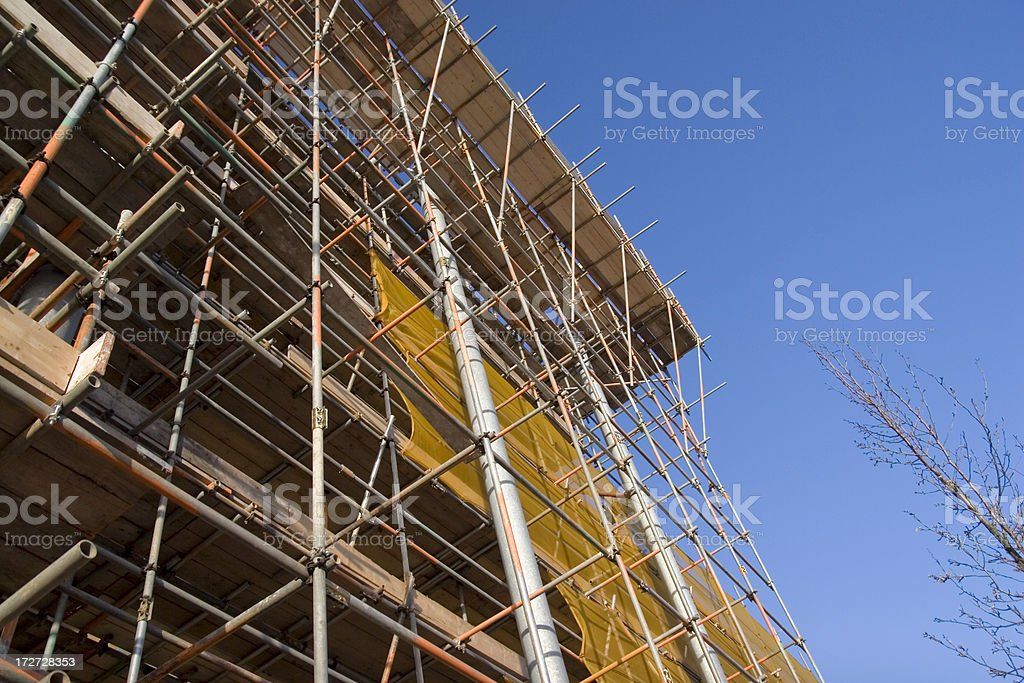 Skyscraper under construction royalty-free stock photo