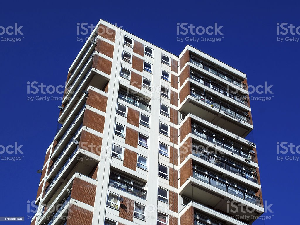 A skyscraper used for council housing royalty-free stock photo