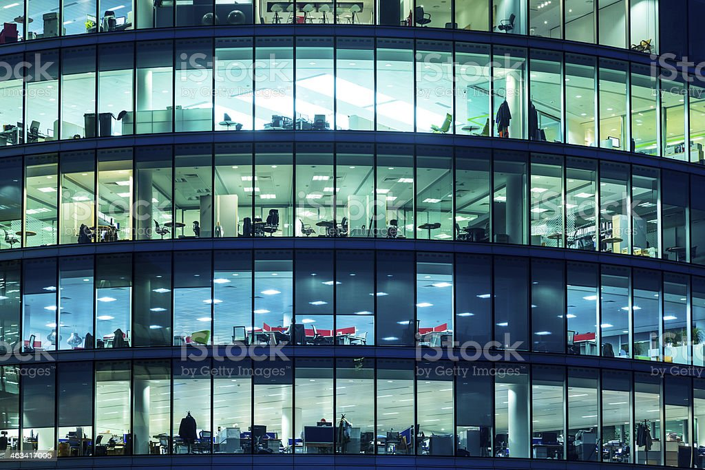 Skyscraper Windows in London stock photo