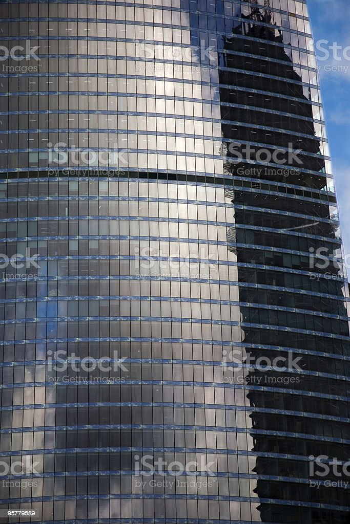 Skyscraper windows royalty-free stock photo