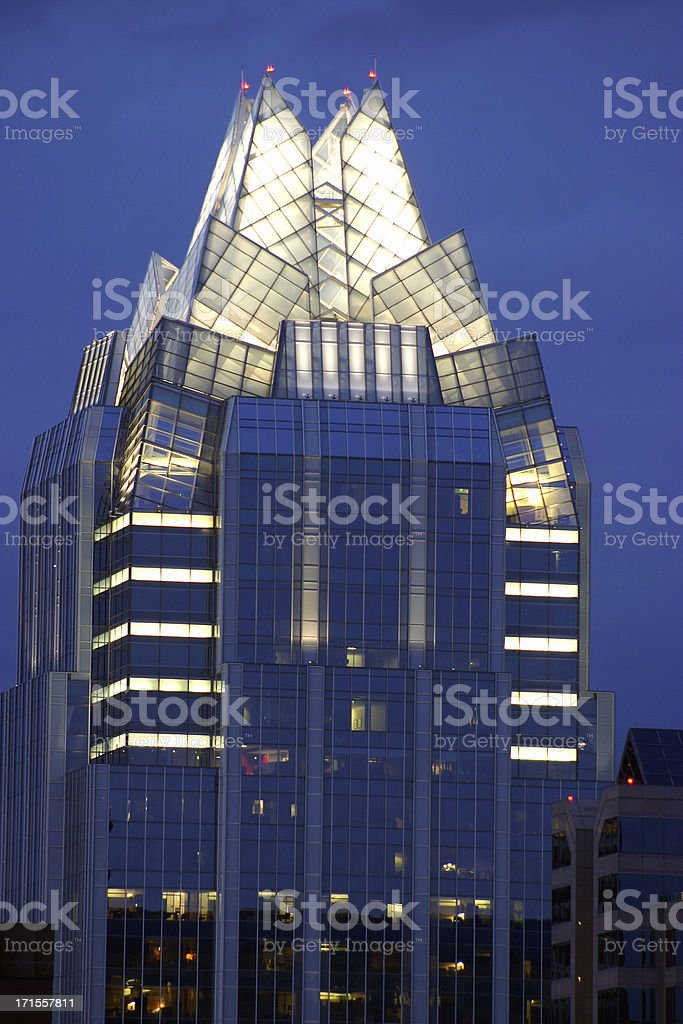 Skyscraper with Blue Evening Sky royalty-free stock photo