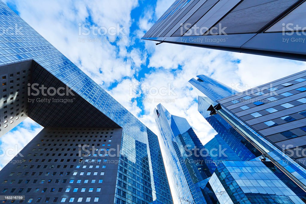 skyscraper with reflecting royalty-free stock photo