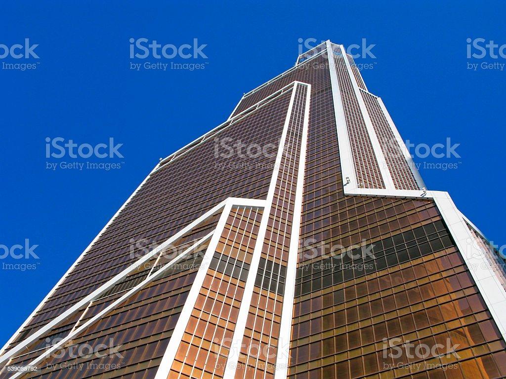 Skyscraper with tinted windows stock photo