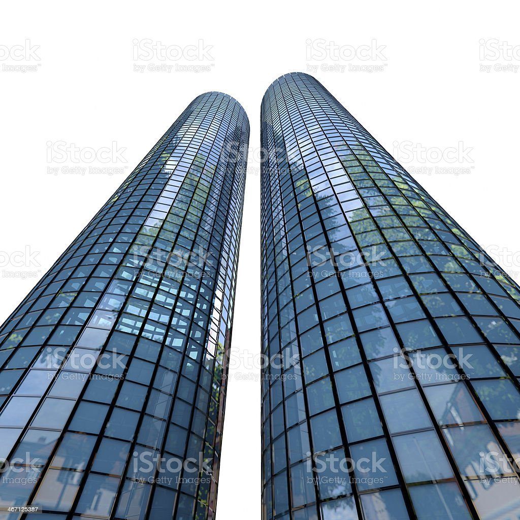 Skyscrapers - 3d rendered illustration royalty-free stock photo