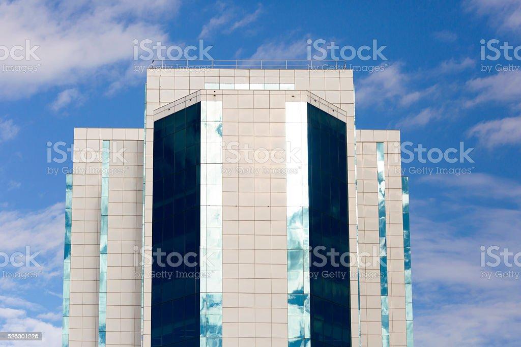 Skyscrapers, against blue sky, copy space, Parramatta, Sydney Australia stock photo