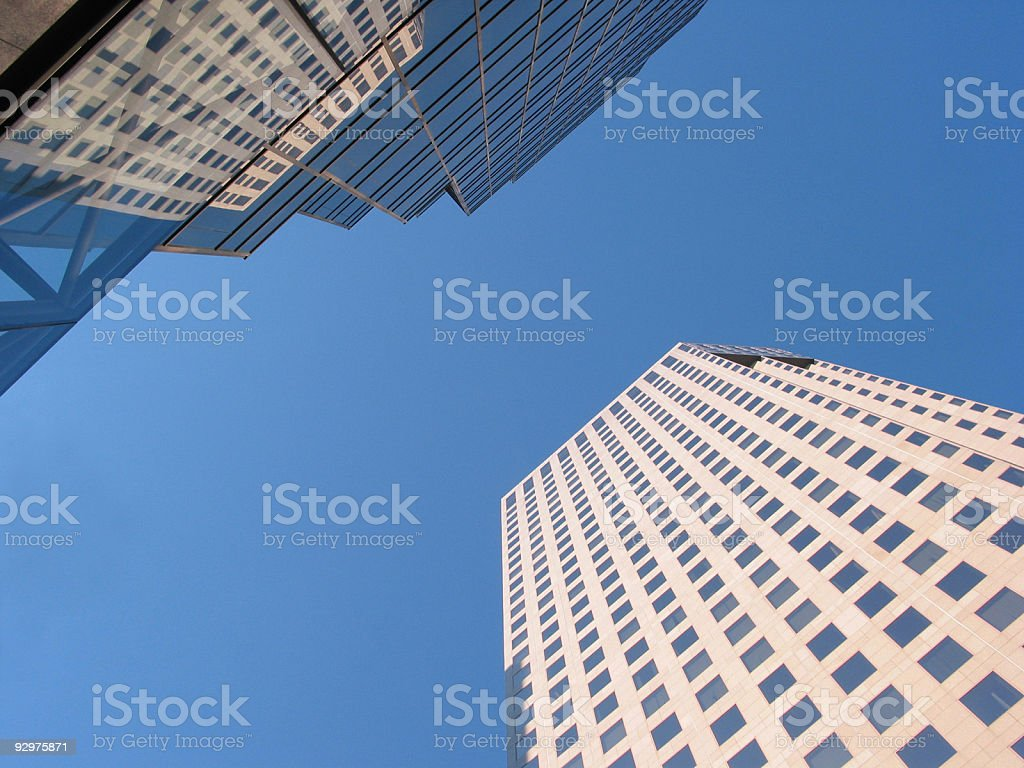 Skyscrapers and Blue Sky stock photo