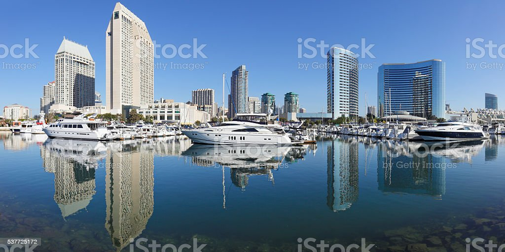Skyscrapers and Marina - San Diego stock photo