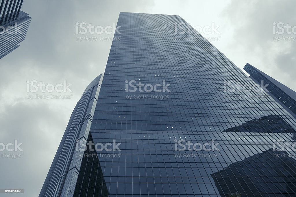 skyscrapers and stormy sky royalty-free stock photo