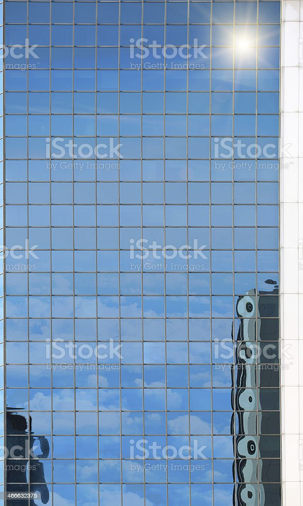 Skyscrapers and Sun royalty-free stock photo