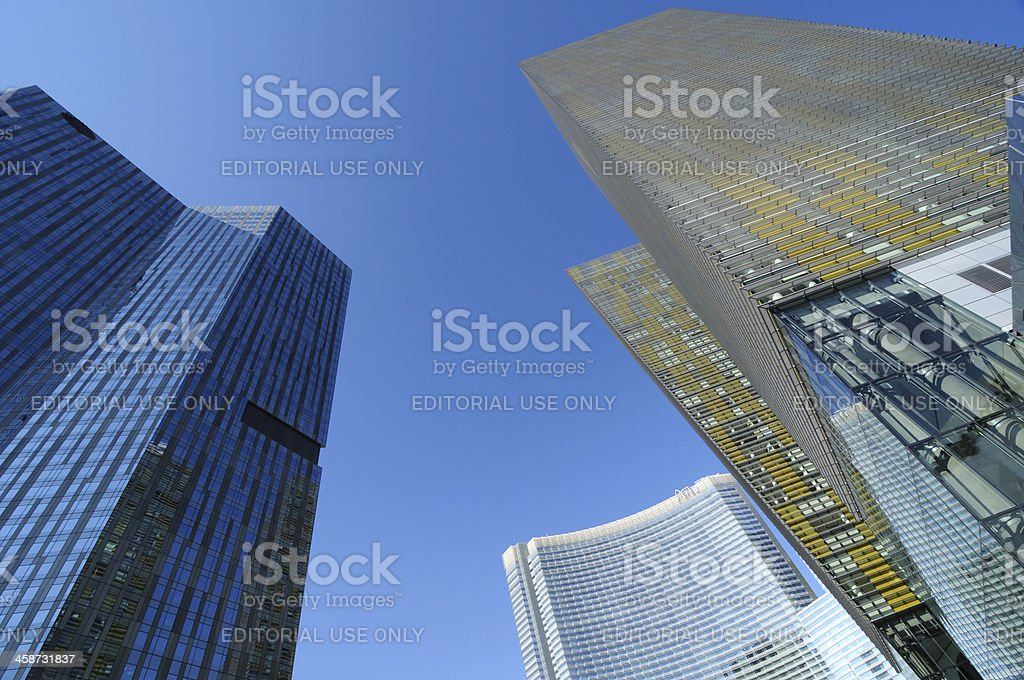 Skyscrapers at CityCenter stock photo