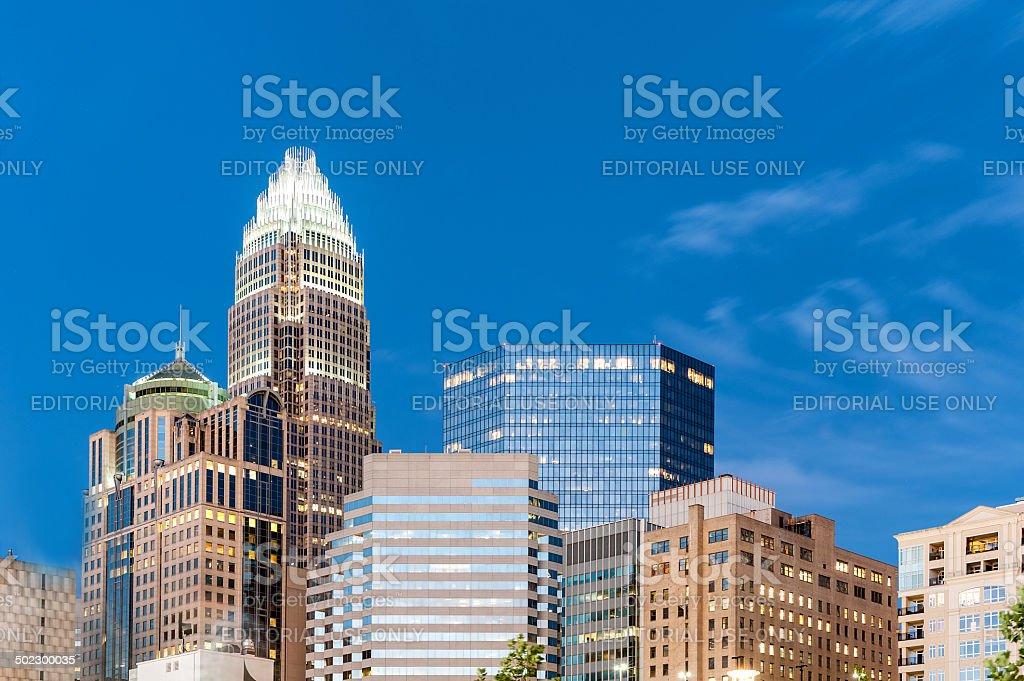 Skyscrapers at downtown Charlotte, North Carolina, US stock photo