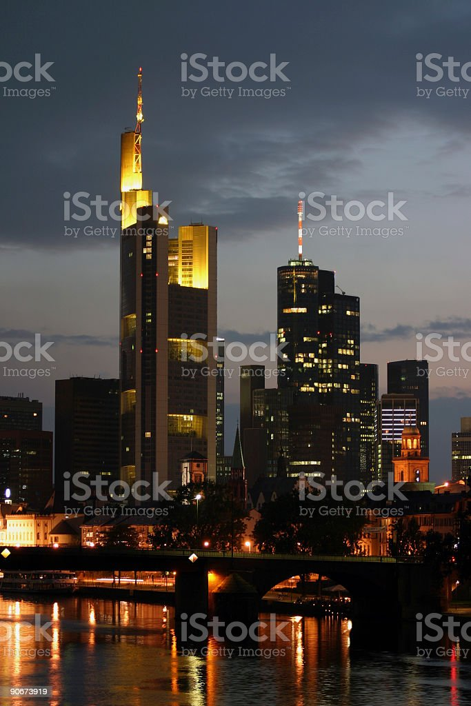 Skyscrapers at dusk royalty-free stock photo